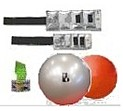 Cuff weights, exercise balls