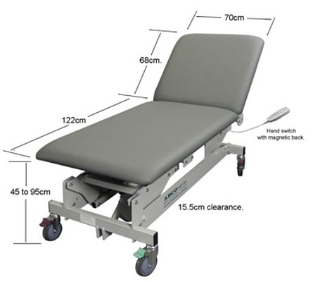 ABCO HOSPITAL EXAMINATION COUCH 2 section detail