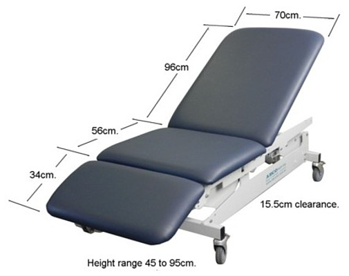 ABCO HOSPITAL EXAMINATION COUCH 3 section detail