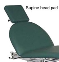 Massage table supine head rest