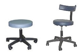 PODIATRY CHAIR Work Stools with or witout backrest.